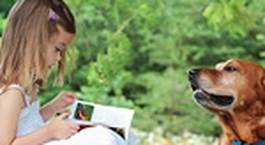 Собаки помогают детям учиться читать