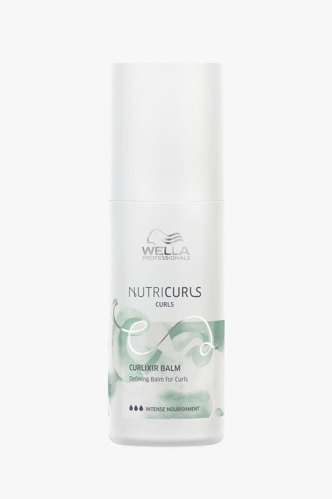Несмываемый крем-бальзам для легкой фиксации и создания четких упругих локонов Nutricurls Curlixir, Wella Professionals