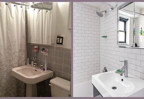 Внезапное преображение серенькой ванной в элегантное место