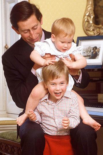 Принц Чарльз, Гарри и Уильям