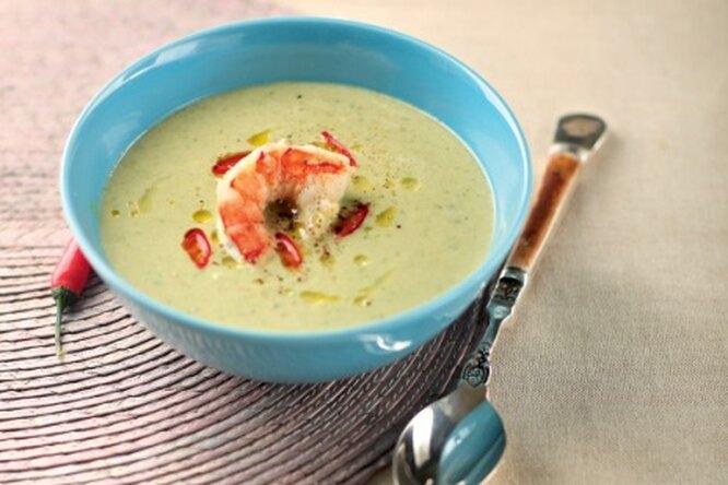 Крем-суп из седьдерея с креветками