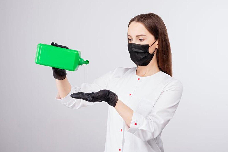 ковид, маска и перчатки, дезинфекция