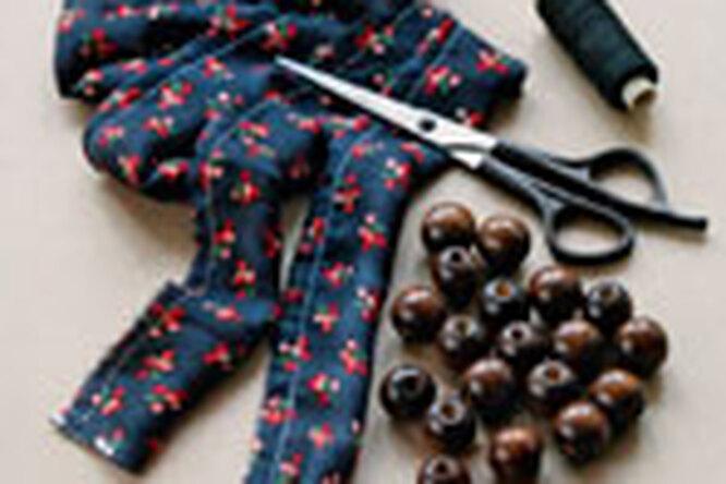 Текстильные бусы