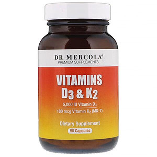 Витамины D3 и K2, Dr. Mercola, 6625 руб