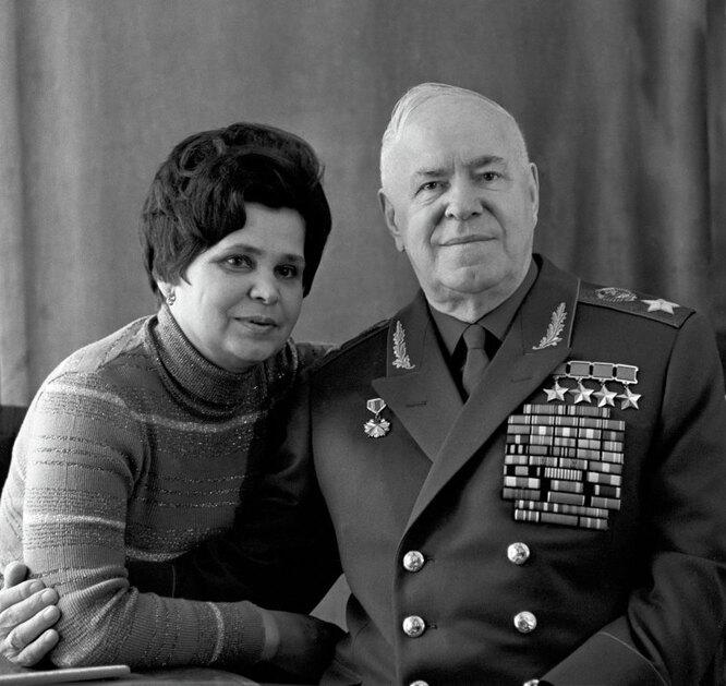 Маршал Георгий Константинович Жуков с женой Галиной Александровной