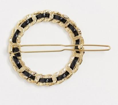 Заколка для волос с отделкой в виде цепочки, DesignB London, 790 руб