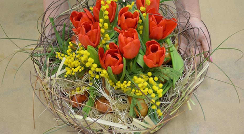 Цветочная композиция на8 марта своими руками