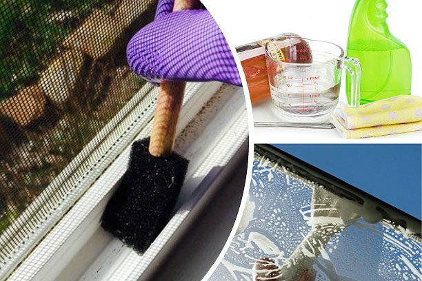 Как правильно мыть окна окномойкой
