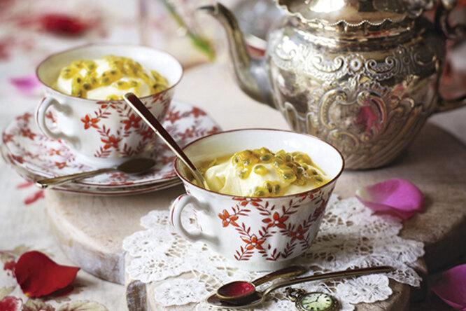 Десерт из лимона и маракуйи