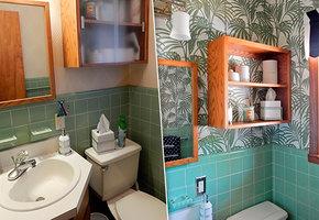 Как новые обои визуально расширили пространство в маленькой ванной