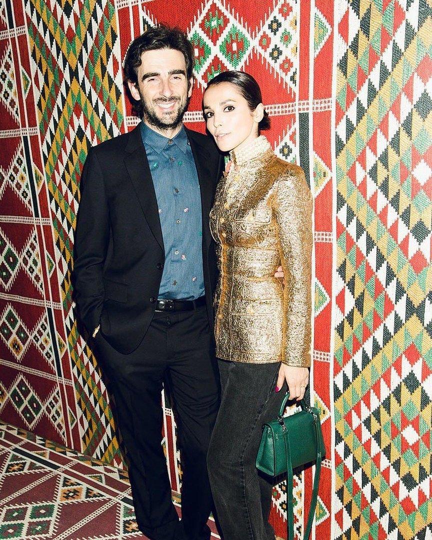 С мужем Стефано Тиоццо