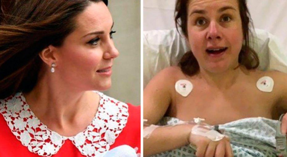 Кейт vs. Реальность: после безупречного выхода герцогини Кембриджской женщины делятся своими фотографиями изроддома