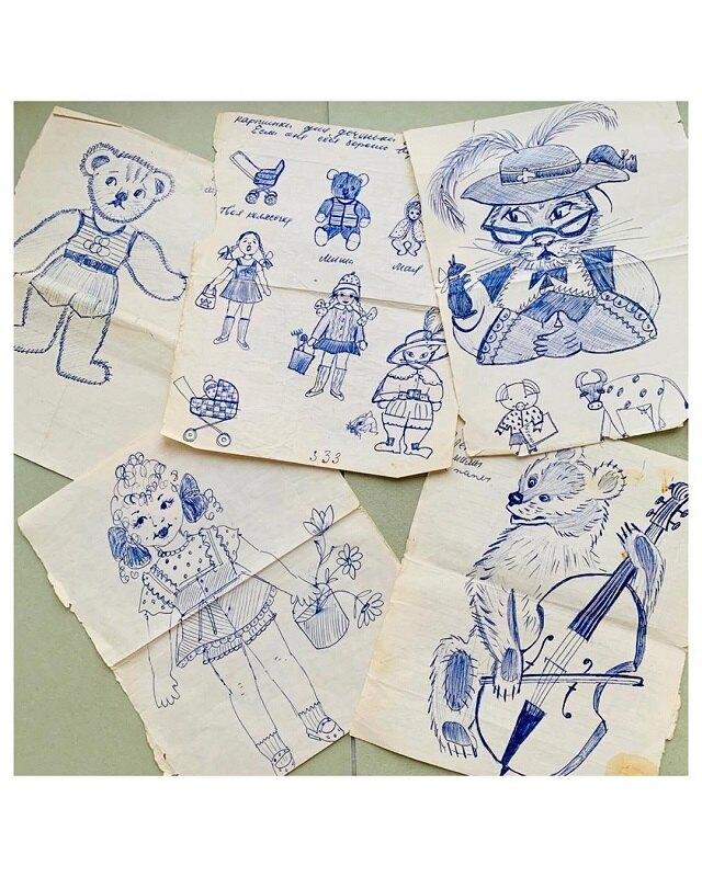 Рисунки, сохраненные певицей