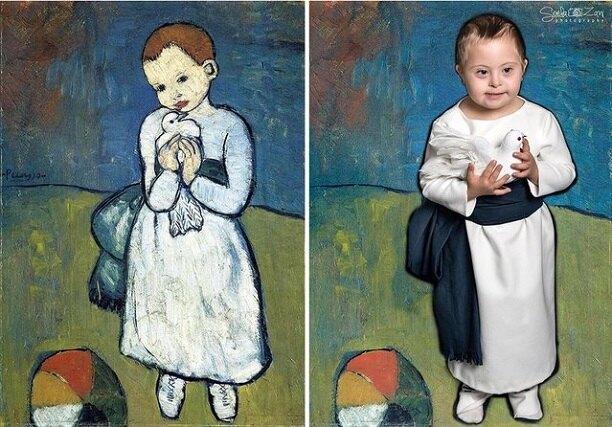 «Девочка с голубкой», Пабло Пикассо