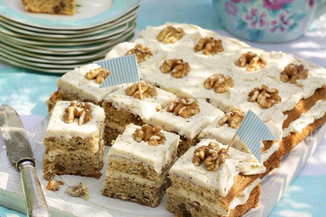 Кофейно-ореховые пирожные