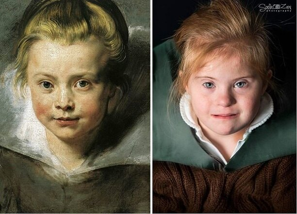 «Портрет дочери Клары Серены Рубенс», Питер Рубенс