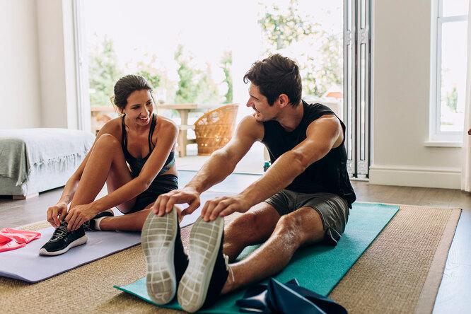 Фитнес вместе смужем. Активная тренировка длядвоих
