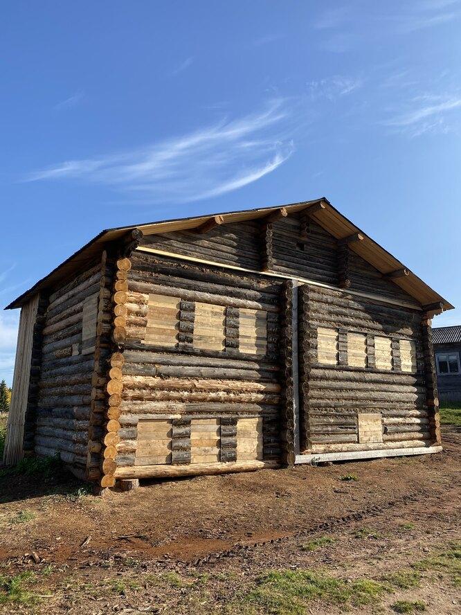 Дом, отреставрированный