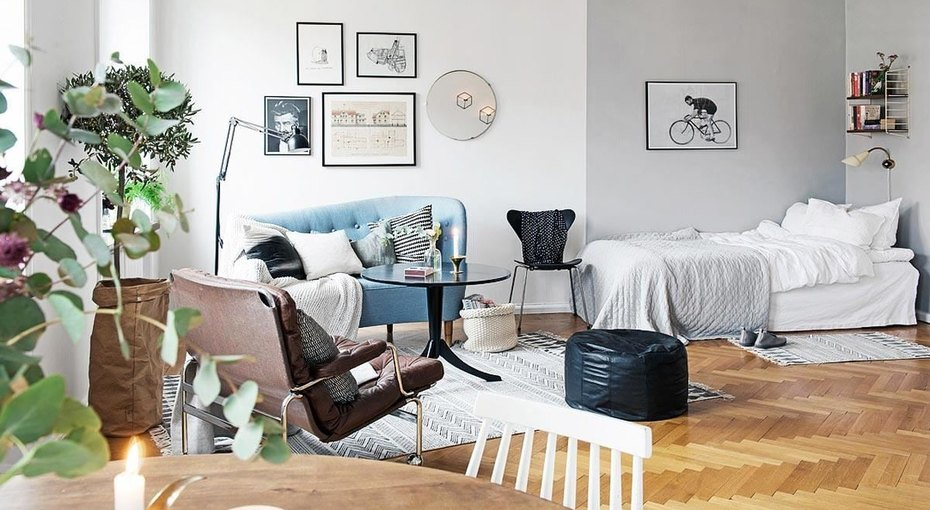 Спальня внебольшой квартире-студии: 10 идей длявдохновения