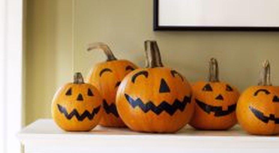 Тыквы наХэллоуин безвырезания