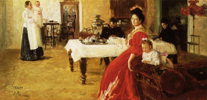 Портрет Татьяны с мужем, детьми и няней