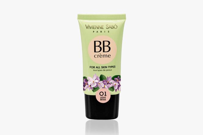 Увлажняющий BB-крем c пептидами, витаминами и гиалуроновой кислотой, Vivienne Sabo