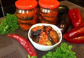 Как приготовить консервированные баклажаны «Тёщин язык»?