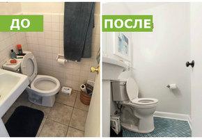 До и после: большое превращение маленькой ванной