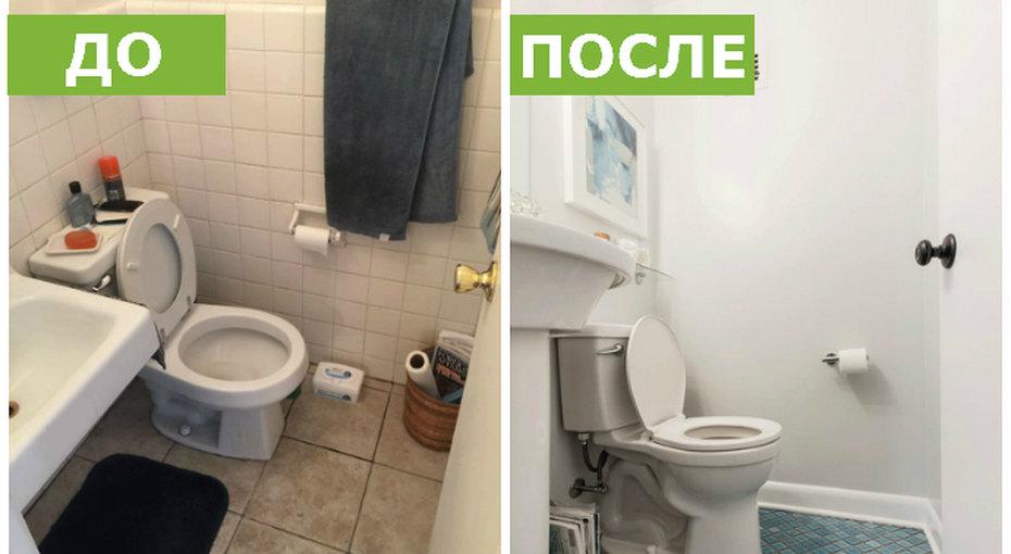 До ипосле: большое превращение маленькой ванной