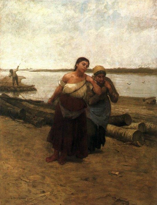 Лайош Деак-Эбнер, «Бурлачки», 1885