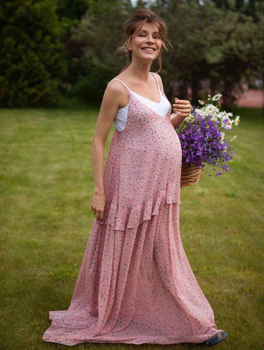 Елена Подкаминская во время беременности