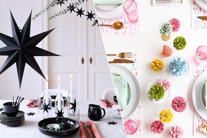 Как украсить стол кНовому году: 20 простых идей