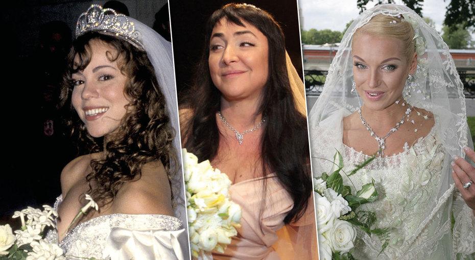От сумочки дошляпки: как менялись образы звездных невест