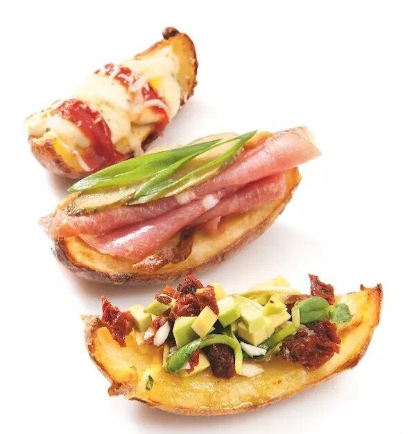 «Лодочки» из печеной картошки с начинкой