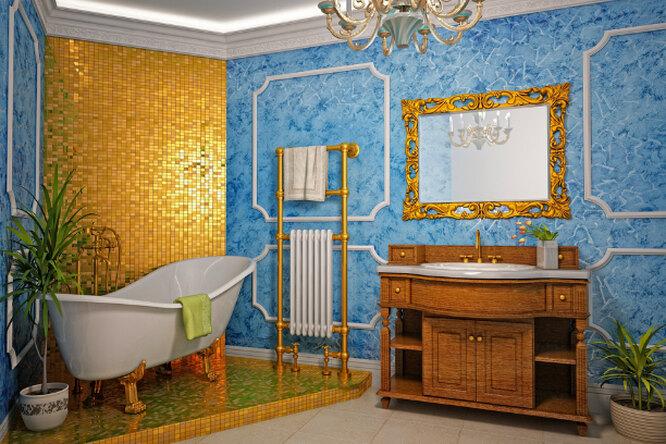 Интерьер ванной комнаты вклассическом стиле
