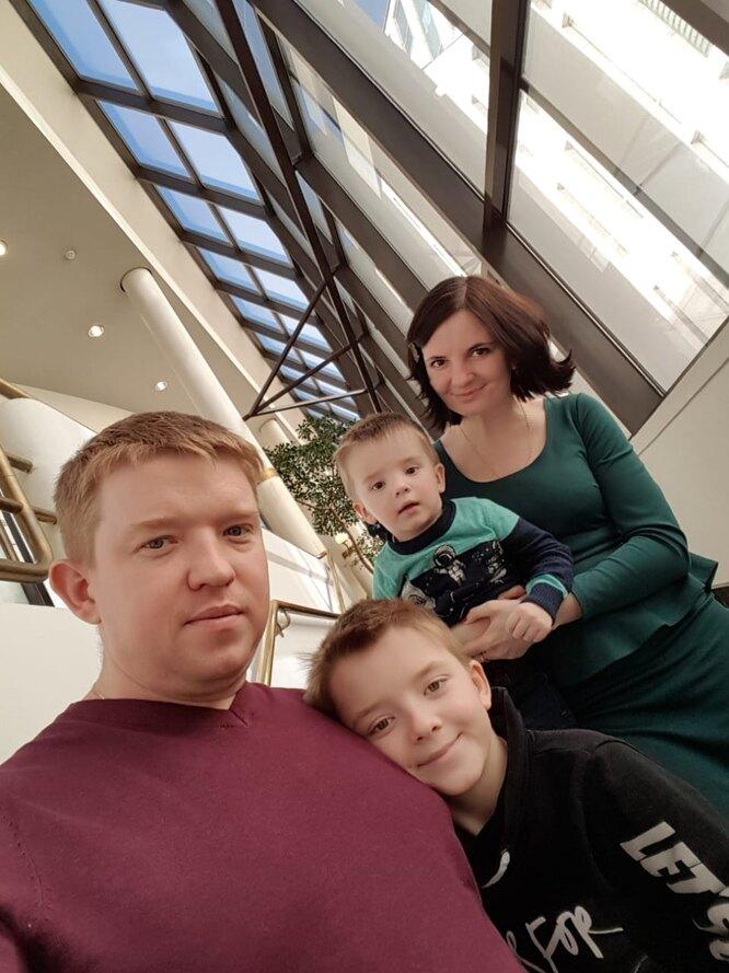 Галина с семьей. Фото из личного архива