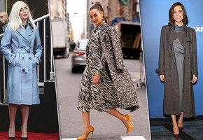 Звездный пример: как выбрать пальто и с чем его носить