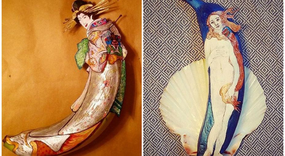 Рисунки набананах: вкусное искусство