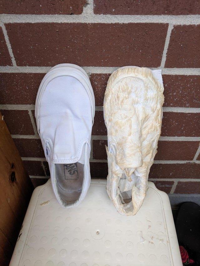 белая обувь стирка
