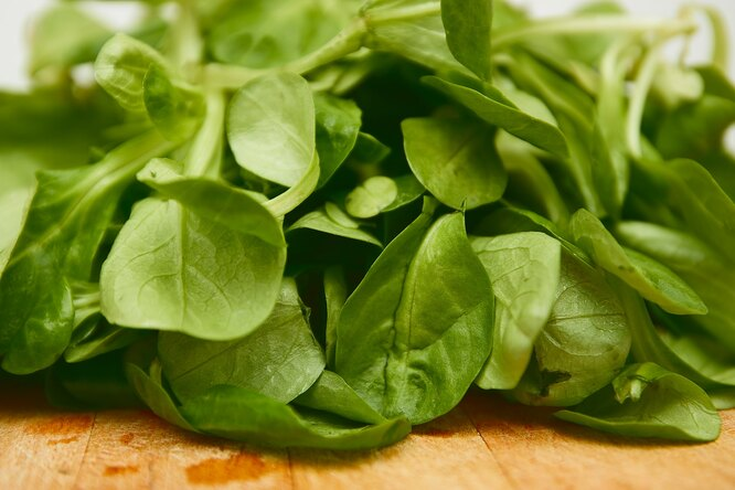 Шпинат, продукт с витамином A