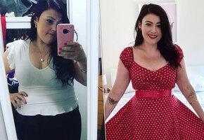 Женщина с зависимостью от сладкого сбросила 64 кг ради мечты стать матерью
