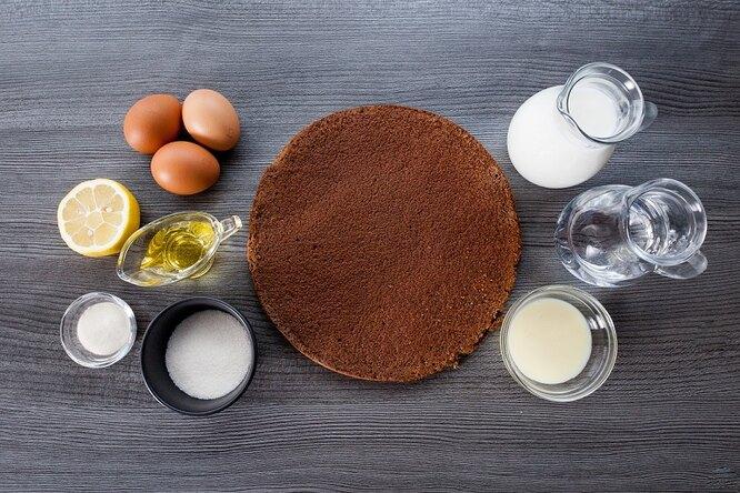 Ингредиенты для приготовления молочного ломтика