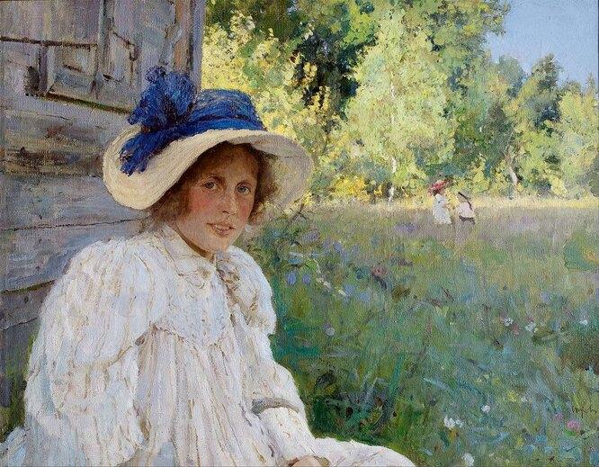 Летом. Портрет Ольги Серовой. 1895
