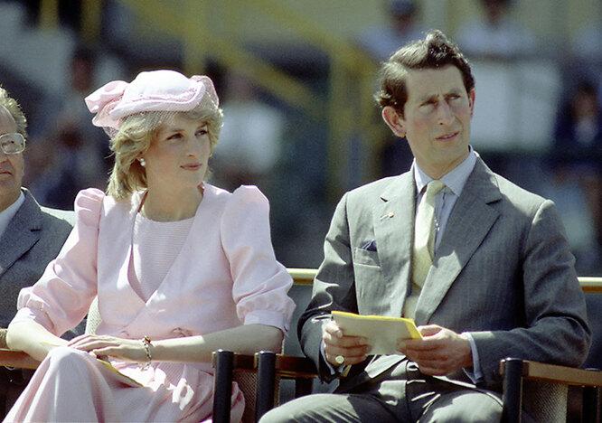 принцесса Диана с мужем