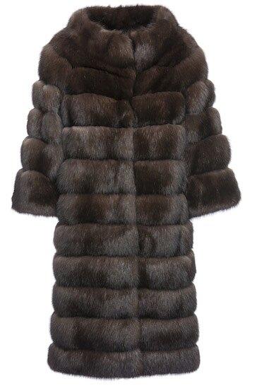 Пальто Braschi из баргузинского соболя