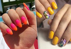 Тренд на неоновые ногти: лучшие идеи для летнего маникюра