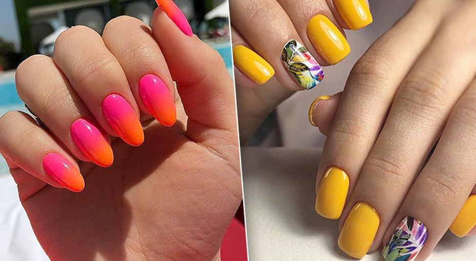 Тренд нанеоновые ногти: лучшие идеи длялетнего маникюра