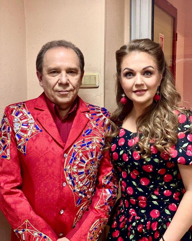 Марина с папой Владимиром Девятовым