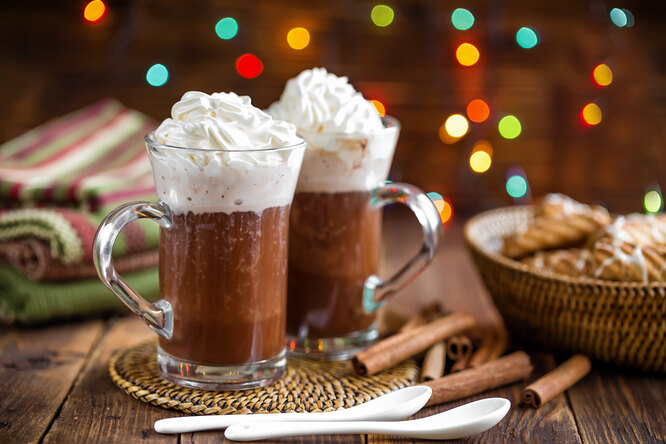 Новогодний горячий шоколад с чили