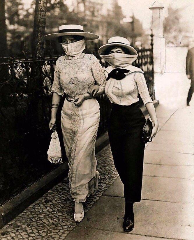 Фото времен эпидемии испанки в 1918-1919 годах